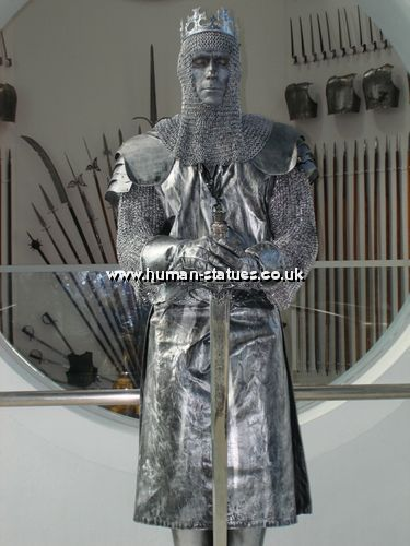 Medieval Knight Human Living Statue