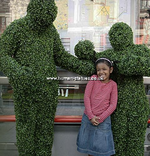 Topiary Human Living Statues